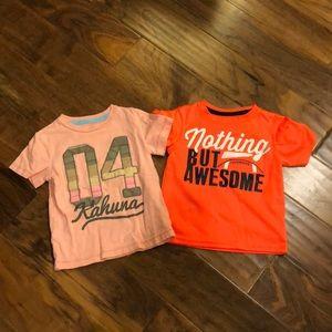 Carters 3T boys tee shirts